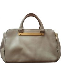 Marc By Marc Jacobs Classic Q Leather Handbag - Gray