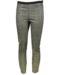 Helmut Lang - Multicolour Leather Trousers - Lyst