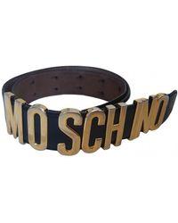 Moschino Patent Leather Belt - Black