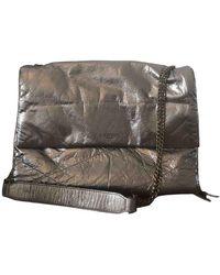 Lanvin Sugar Leather Handbag - Metallic