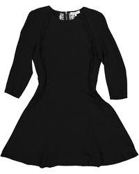 Sandro - Black Polyester Dress - Lyst
