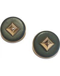 Hermès - Pre-owned Collier De Chien Leather Earrings - Lyst