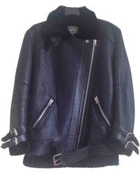 Acne Studios - Velocite Black Leather Leather Jacket - Lyst