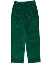 Isabel Marant - Green Velvet Trousers - Lyst