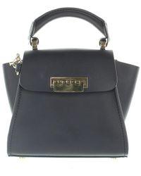 Z Spoke by Zac Posen Navy Leather Handbag - Blue