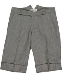 Roland Mouret - Pre-owned Grey Wool Shorts - Lyst