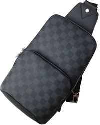 Louis Vuitton Avenue Sling Black Cloth Bag