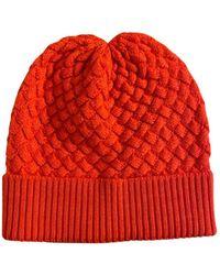 Bottega Veneta Wool Beanie - Orange