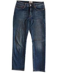 Acne Studios Row Straight Jeans - Blue