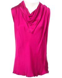 Lanvin - Pink Silk Top - Lyst