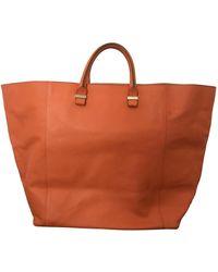 Victoria Beckham Liberty Leather Tote - Orange