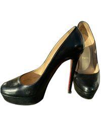 Christian Louboutin Bianca Leather Heels - Black