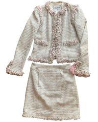 Chanel Tweed Kostüm - Pink