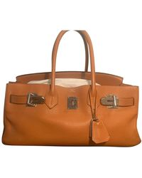 Hermès Sac à main Birkin Shoulder en cuir - Orange