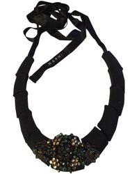 Marni Collar en metal negro