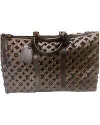 Louis Vuitton Keepall Leder Wochenende tasche - Braun