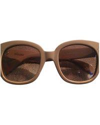 Celine New Audrey Oversized Sunglasses - Natural