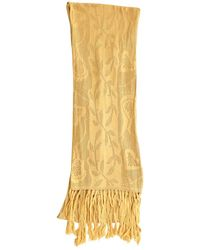 Marc Jacobs Yellow Silk Scarf