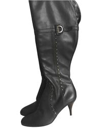 Dior Stivali in pelle marrone