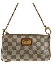 Louis Vuitton Milla Beige Cloth Clutch Bag - Multicolour