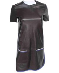 Céline - Pre-owned Leather Mini Dress - Lyst