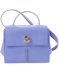 Christopher Kane Blue Leather Handbag