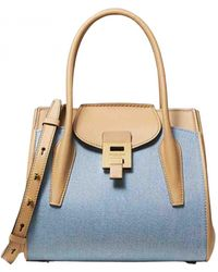 Michael Kors Borsa a tracolla Bancroft (Collection) in Pelle - Blu
