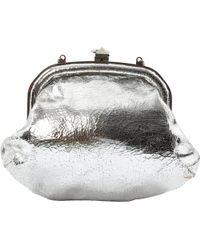 Sonia Rykiel - Pre-owned Silver Leather Clutch Bag - Lyst 07b7bb207dec9