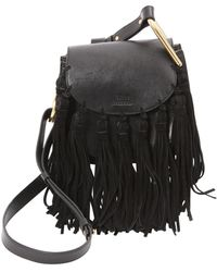 Chloé Hudson Black Leather Handbag