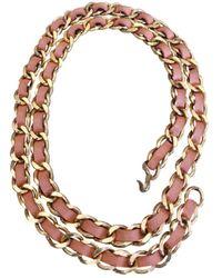 Chanel Vintage Gold Metal Belts - Metallic