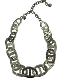 Hermès Silver Metal Necklace - Metallic