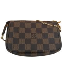 Louis Vuitton Pochette Accessoire Cloth Clutch Bag - Brown