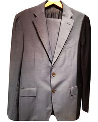 Ferragamo Navy Wool Suits - Blue