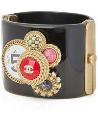 Chanel - Pre-owned Black Plastic Bracelets - Lyst