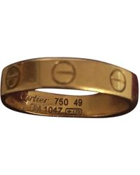 Cartier - Pre-owned Love Yellow Gold Ring - Lyst