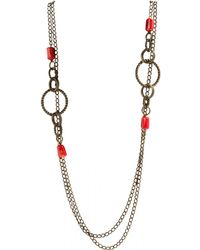 Isabel Marant - Other Metal Long Necklace - Lyst