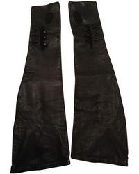 Maison Margiela Vintage Black Leather Gloves