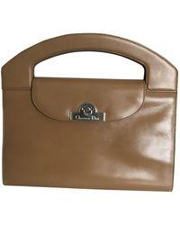 Dior Camel Leather Handbag - Multicolour