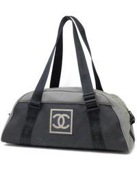 Chanel Cloth Travel Bag - Gray