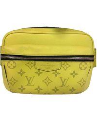 Louis Vuitton Outdoor Leinen Taschen - Gelb