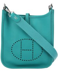 Hermès - Pre-owned Evelyne Leather Crossbody Bag - Lyst