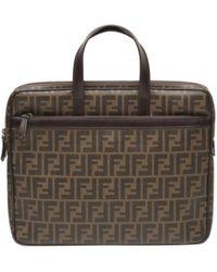 Fendi - Vintage Roll Bag Brown Cloth Handbag - Lyst