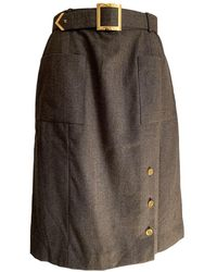 Chanel Wool Skirt Suit - Brown