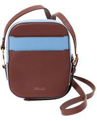Diane von Furstenberg Blue Leather Handbag
