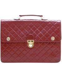 Chanel Leder Aktentaschen - Rot