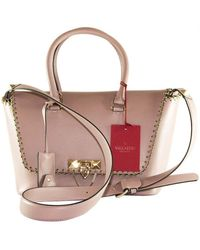 Valentino Demilune Pink Leather Handbag