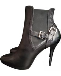 Ralph Lauren Collection - Black Leather Ankle Boots - Lyst