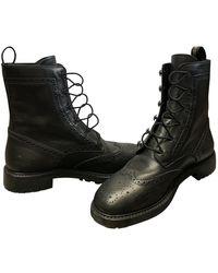 Dior Boots en Cuir Noir