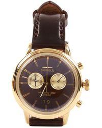 Shinola Reloj en acero marrón \N