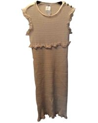 Chanel Cashmere Mid-length Dress - Natural